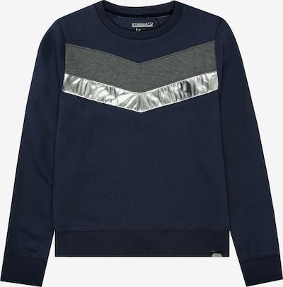 STACCATO Sweatshirt in nachtblau / dunkelgrau / silber, Produktansicht