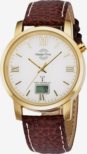 Master Time Uhr 'MTGA-10298-13L' in kastanienbraun / gold, Produktansicht