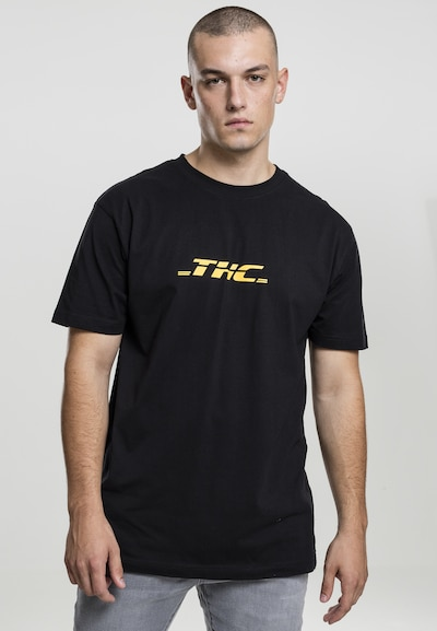 Mister Tee T-Shirt 'THC' in gelb / schwarz: Frontalansicht