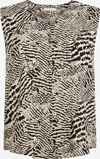 ONLY Carmakoma Top 'TUKZU' | črna / bela barva, Prikaz izdelka