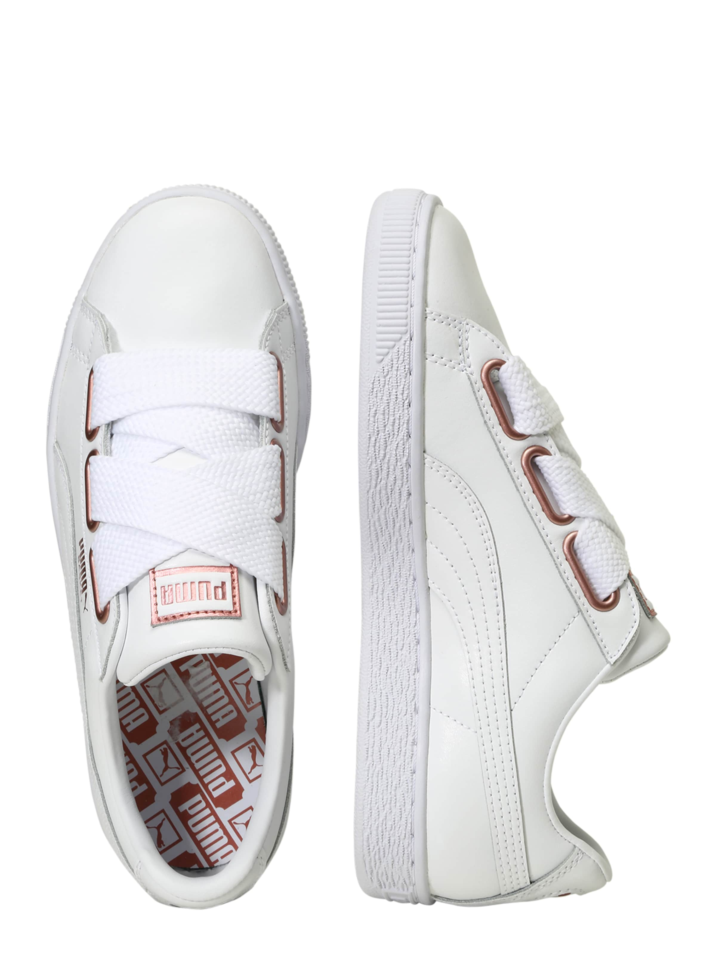 En Heart' Baskets Basses Or Puma 'basket RoseBlanc IW29DYEH