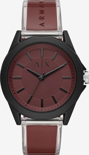 Emporio Armani Uhr in rostrot / schwarz / transparent, Produktansicht