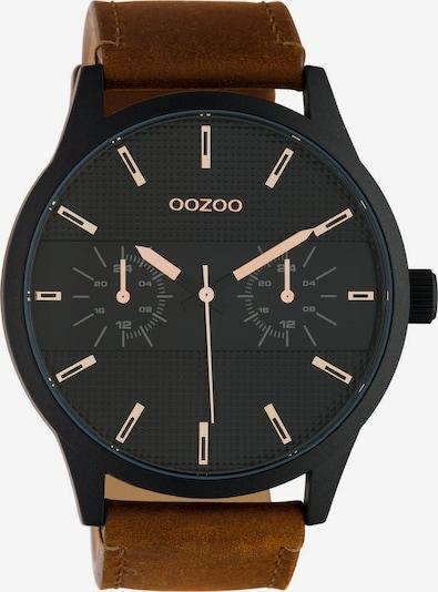 OOZOO Quarzuhr in braun / schwarz, Produktansicht