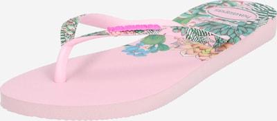 HAVAIANAS Zehentrenner in grün / mischfarben / rosa, Produktansicht