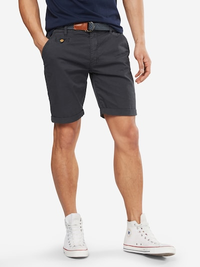 INDICODE JEANS Shorts 'Conor' in anthrazit: Frontalansicht