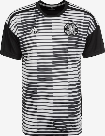 ADIDAS PERFORMANCE Trainingsshirt 'DFB Pre-Match' in schwarz / weiß: Frontalansicht