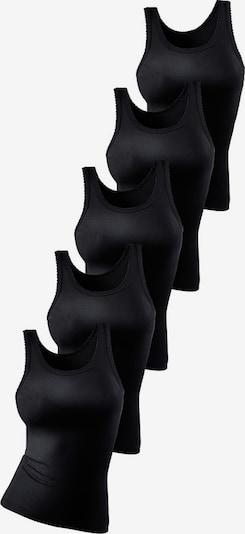 PETITE FLEUR Doppelripp-Tanktop-Unterhemd (5 Stck.) in schwarz, Produktansicht
