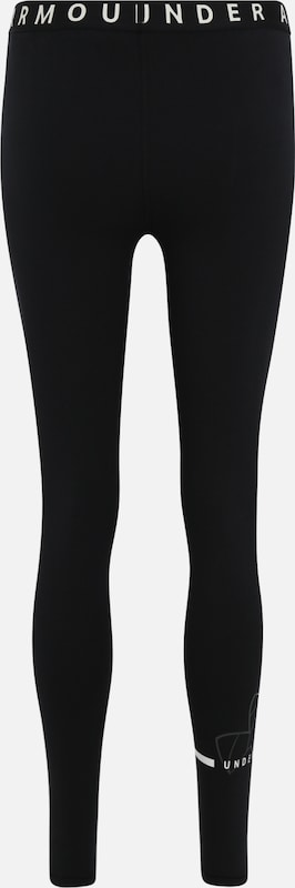 UNDER ARMOUR Sportleggings 'Favorite Big Logo Legging' in schwarz: Rückansicht
