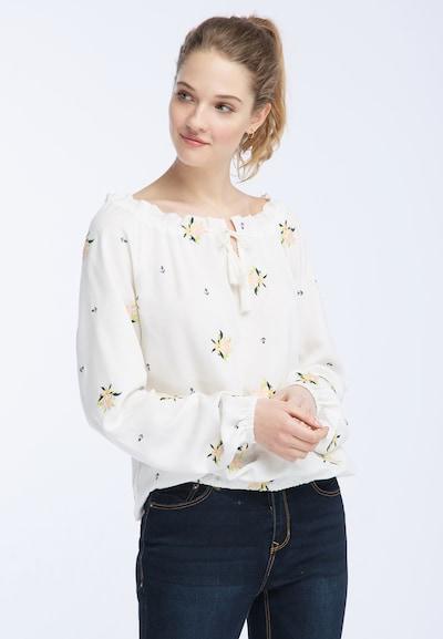 DREIMASTER Shirt in ultramarinblau / hellgelb / apfel / pastellpink / weiß, Modelansicht
