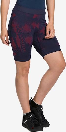 VAUDE Funktionsunterhose 'Women's SQlab LesSeam Shorts' in dunkelblau / dunkelrot, Produktansicht