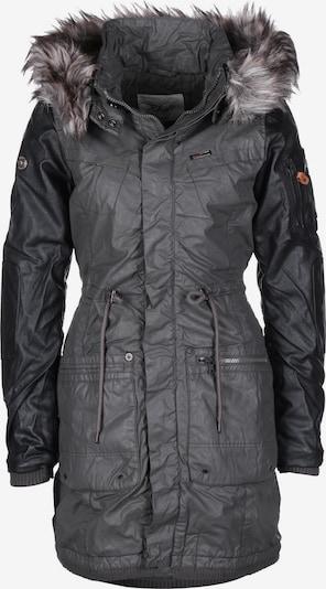 khujo Parka ' Julita Fake Leather W ' in grau, Produktansicht