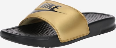 Nike Sportswear Badeschuh 'Benassi Just Do It' in gold / schwarz, Produktansicht