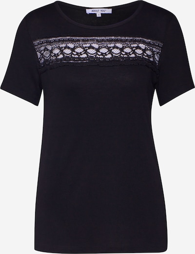 ABOUT YOU T-shirt 'Agnes' en noir, Vue avec produit