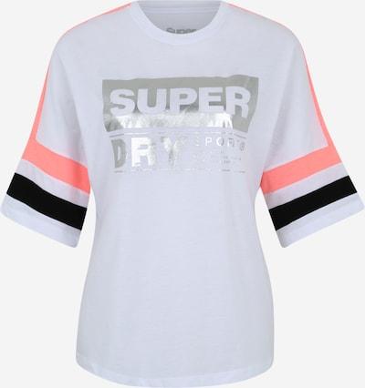 Superdry Koszulka funkcyjna 'STREETSPORT TEE' w kolorze koralowy / czarny / srebrny / białym, Podgląd produktu