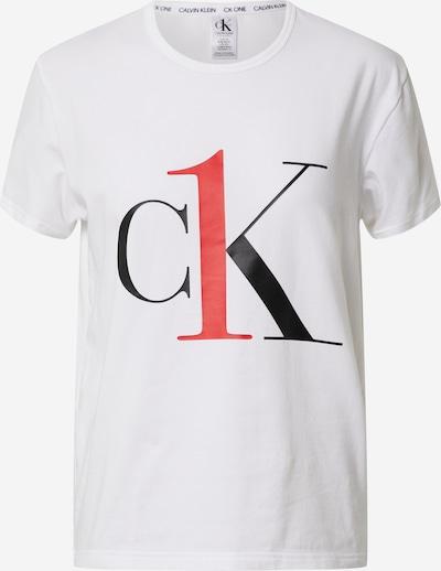 Calvin Klein Underwear Chemise de nuit 'S/S CREW NECK' en rouge / noir / blanc, Vue avec produit