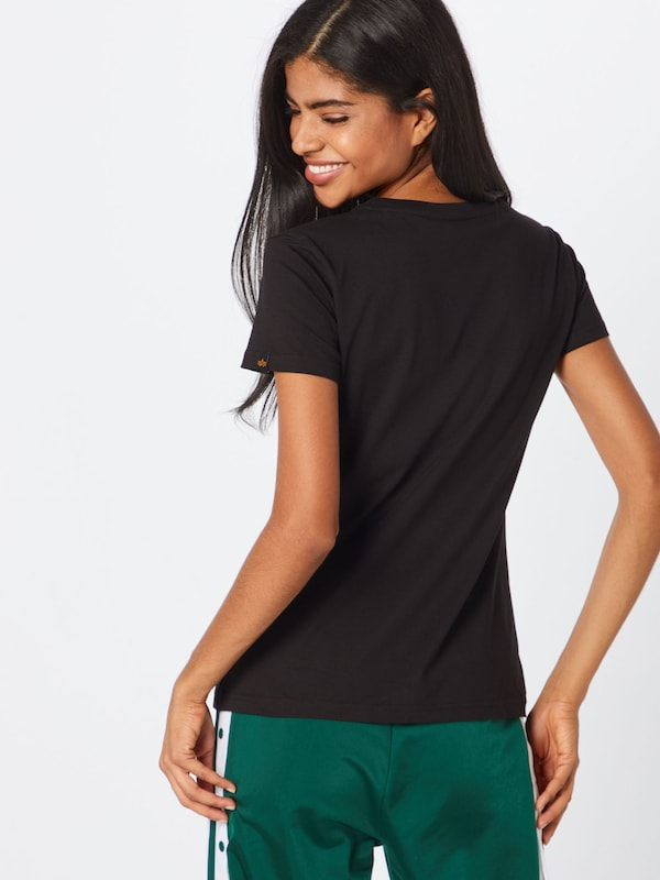 En Industries T 'basic Noir shirt T Logo Alpha Small Wmn' N80vmnw