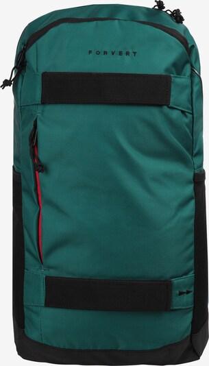 Forvert Rugzak 'Larry' in de kleur Smaragd / Zwart, Productweergave