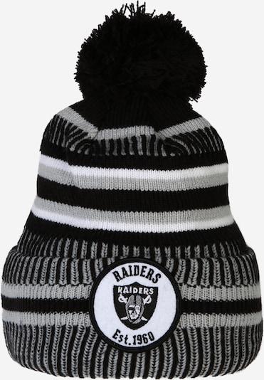 NEW ERA Mütze in grau / schwarz / weiß: Frontalansicht