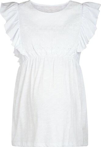 JoJo Maman Bébé Pluus, värv valge