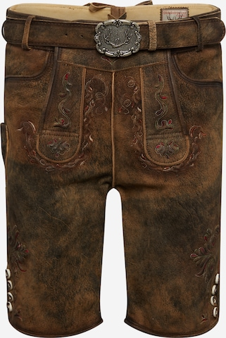 STOCKERPOINT Rahvuslikud püksid 'Felix', värv pruun