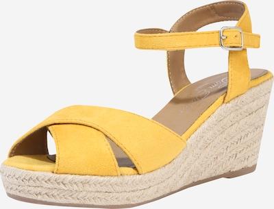 TOM TAILOR Sandalen met riem in de kleur Beige / Geel, Productweergave