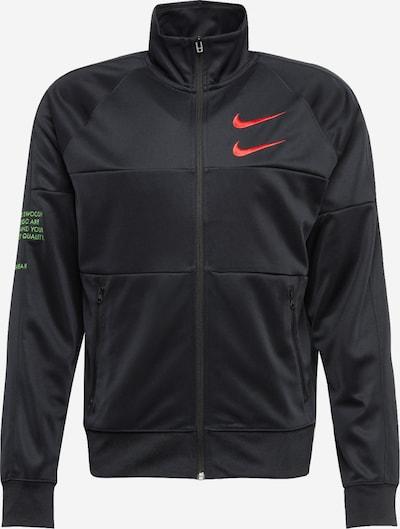 NIKE Sportjas in de kleur Lichtgroen / Oranjerood / Zwart, Productweergave