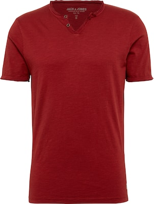 JACK & JONES T-Shirt 'JPRBENJAMIN TEE SS SPLIT NECK'