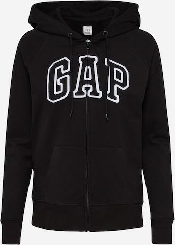 GAP Bluza rozpinana w kolorze czarny