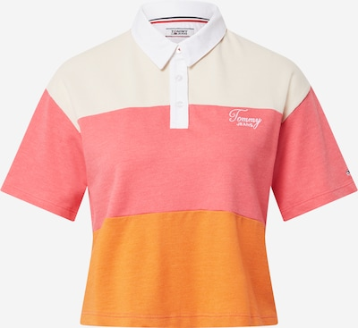 Tommy Jeans Shirt in de kleur Sinaasappel / Pink / Wit, Productweergave