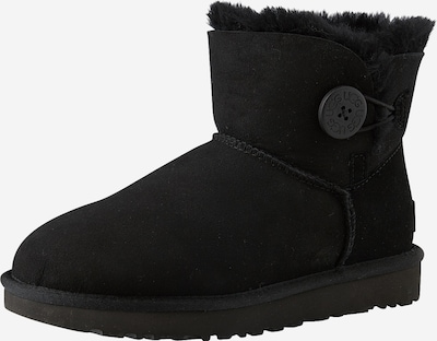 UGG Boots 'Mini Bailey Button II' in schwarz: Frontalansicht