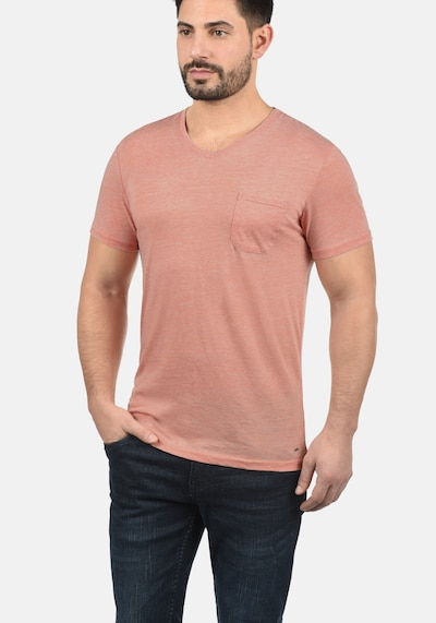 !Solid V-Shirt 'Theon' in rosé: Frontalansicht