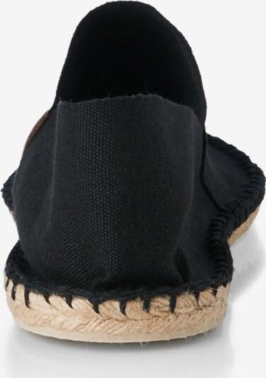 Espadrillas espadrij l´originale di colore nero: Vista da dietro