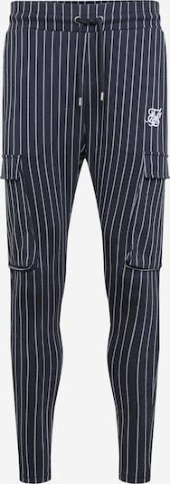 SikSilk Cargo hlače u crna / bijela, Pregled proizvoda
