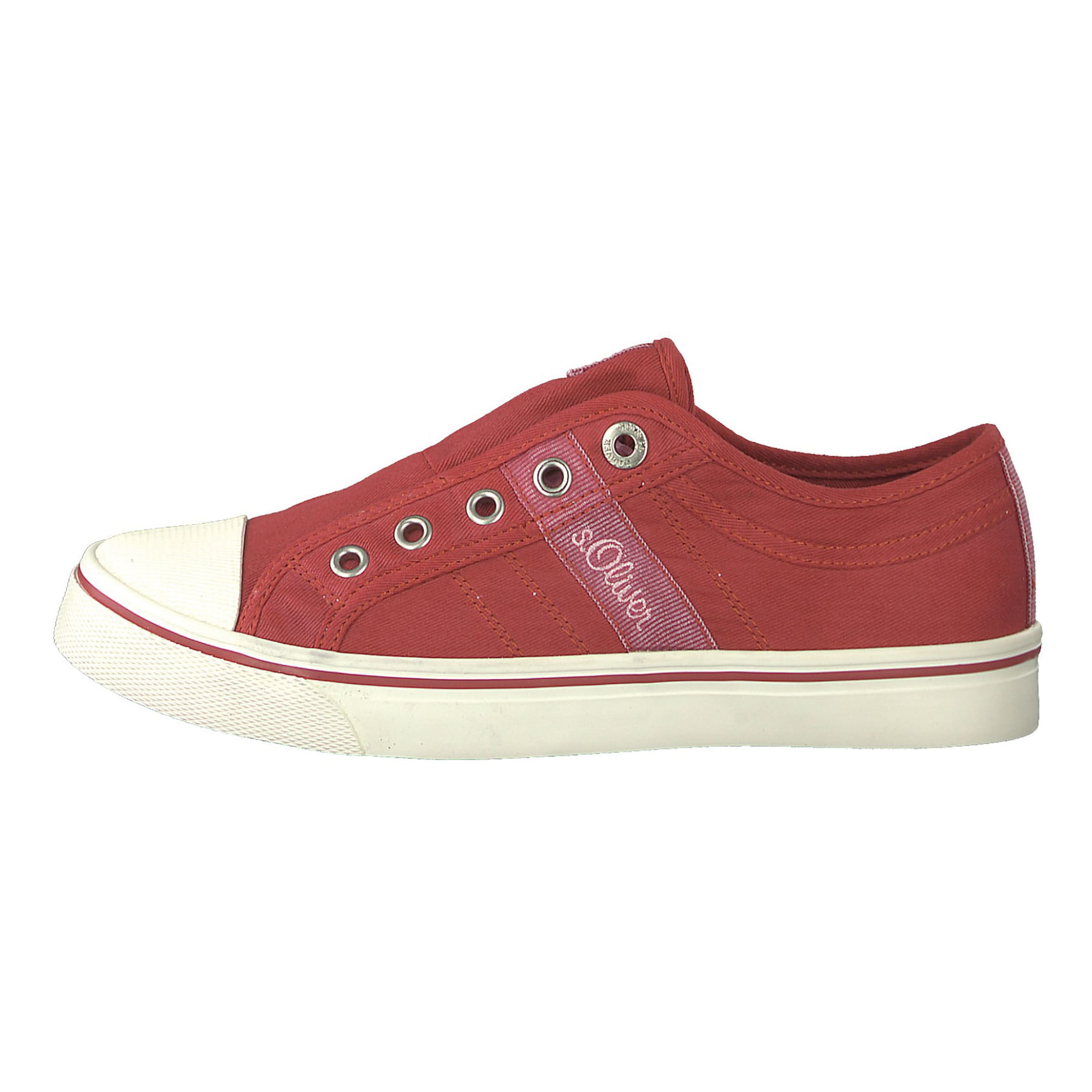 In Low oliver S Sneakers BeigeRot vNn0m8wO