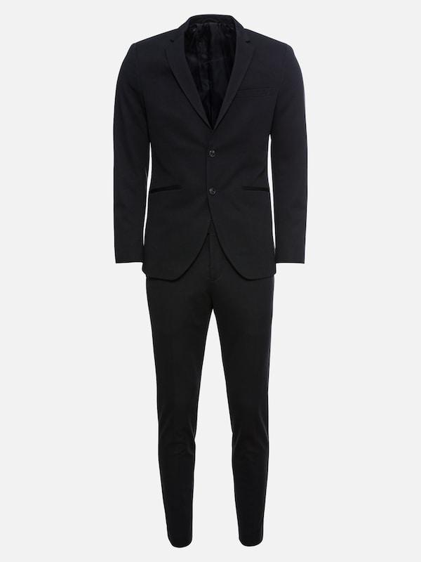 jack jones anzug 39 jprsteven 39 in schwarz about you. Black Bedroom Furniture Sets. Home Design Ideas