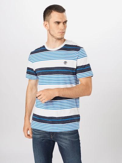 TIMBERLAND Majica | modra / bela barva: Frontalni pogled