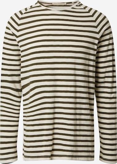 Nudie Jeans Co Shirt 'Otto Breton' in de kleur Zwart / Eierschaal, Productweergave