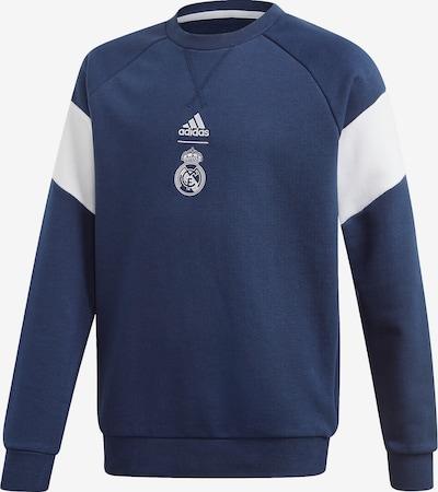 ADIDAS PERFORMANCE Sweatshirt 'Real CRSWT' in dunkelblau / weiß, Produktansicht