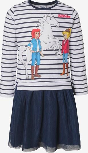 Bibi und Tina Kleid in nachtblau / mischfarben / weiß, Produktansicht