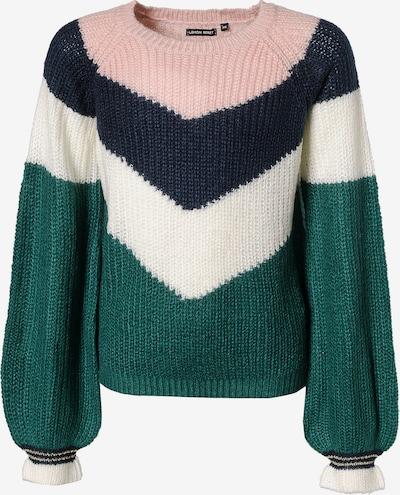 LEMON BERET Pullover für Mädchen in nachtblau / grün / rosa / weiß: Frontalansicht