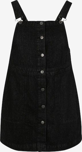 Urban Classics Curvy Latzkleid in black denim, Produktansicht