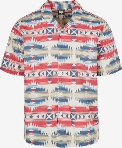 Urban Classics Hemd in beige / blau / rot, Produktansicht