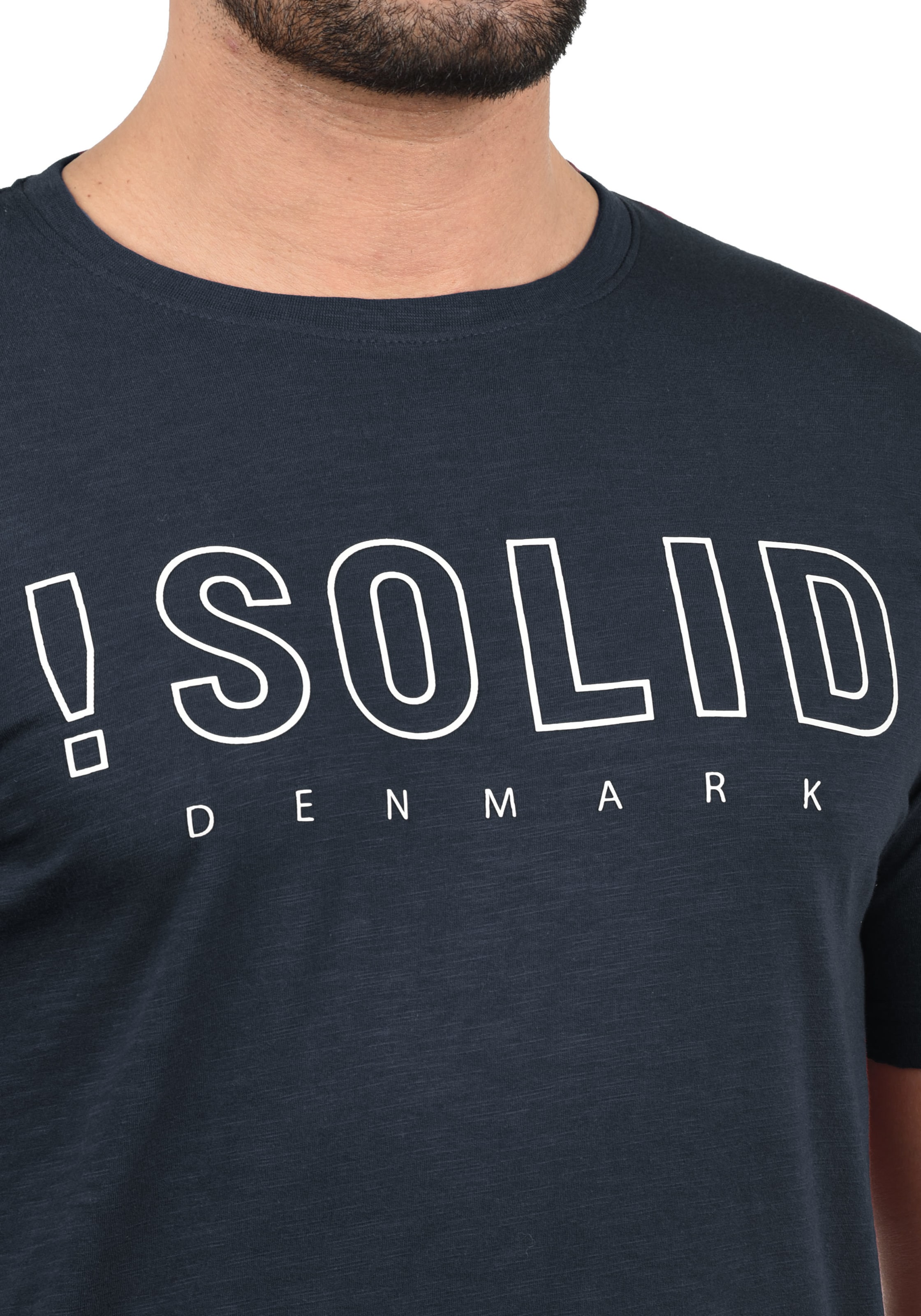 Blau In 'solido' solid solid Rundhalsshirt 8O0Pwnk