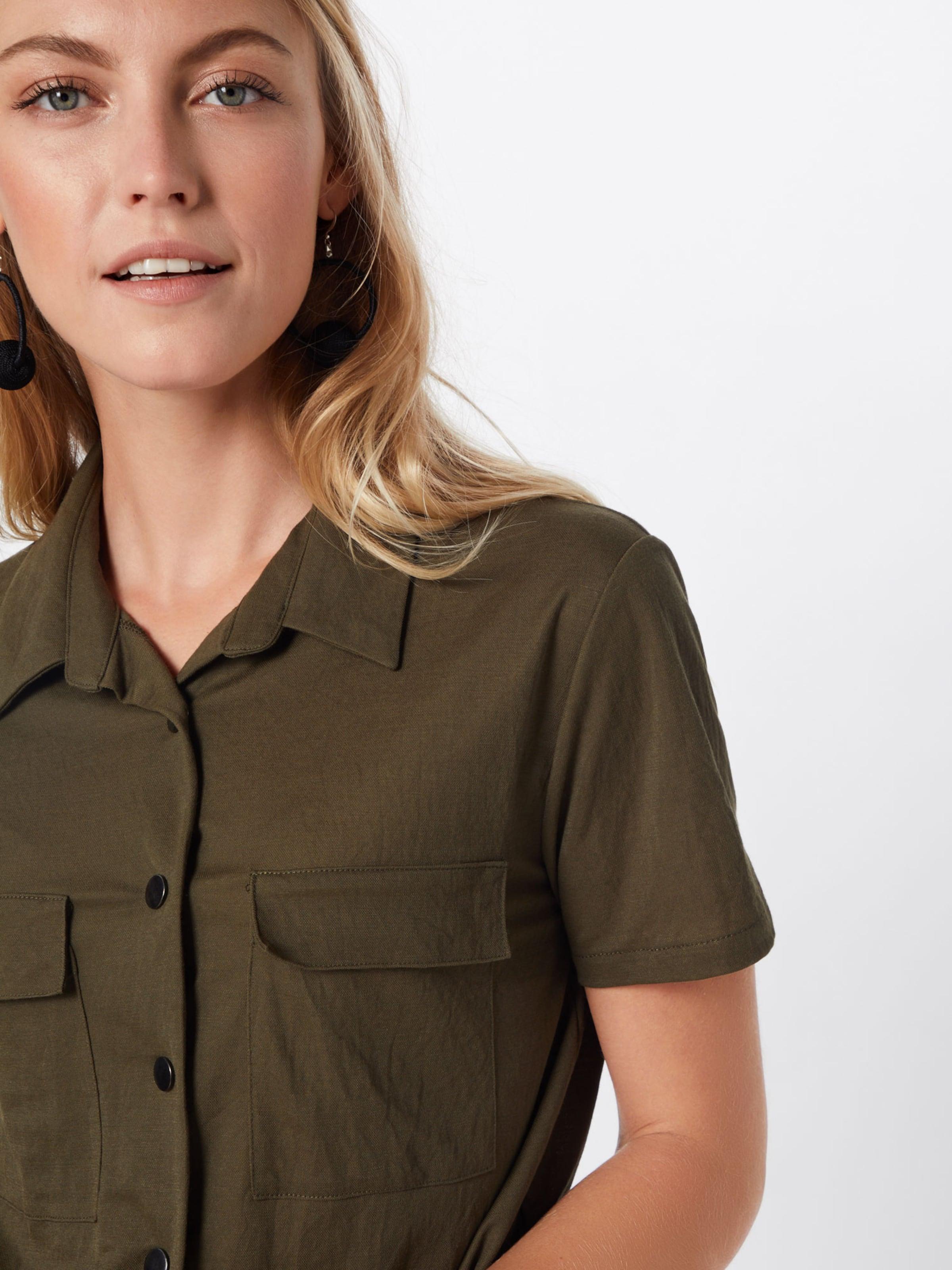 VILA Skjortklänning 'SAFINA' i oliv