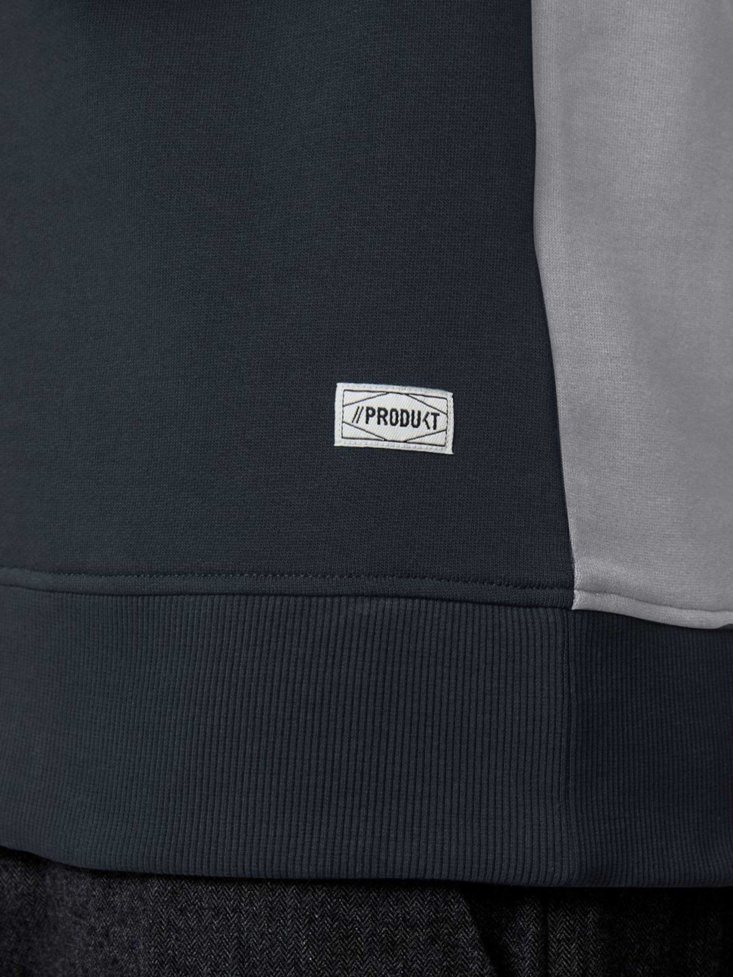 shirt En Sweat Chiné FoncéGris Blanc Produkt Bleu gmIf6yYb7v