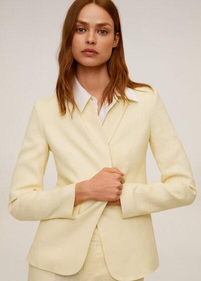 MANGO Blazer 'Boreli' in gelb, Modelansicht