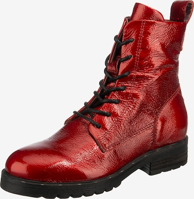 JOLANA & FENENA Lace-Up Ankle Boots in Red, Item view