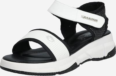 Dockers by Gerli Sandale in schwarz / weiß, Produktansicht