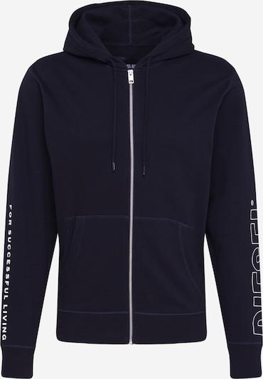 DIESEL Mikina s kapucí 'BRANDON' - černá / bílá, Produkt