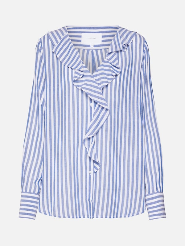 OPUS Bluse 'Felmie' in hellblau / offwhite   ABOUT YOU